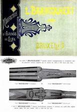 Brancquaert Manufacture d'Armes de Luxe 1905 Gun Catalog