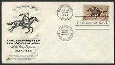 #1154 4c Pony Express, Art Craft-Addressed FDC **ANY 4=FREE SHIPPING**