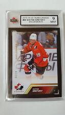 Wayne Gretzky 2013-14 UD Team Canada Gold Exclusives 3/10 Card KSA Graded 9!!!