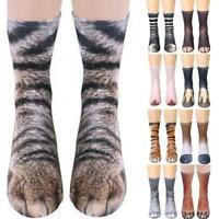 Unisex Adult/Kids Elastic Sock Animal Paw Feet Crew 3D Print Foot Socks XMAS
