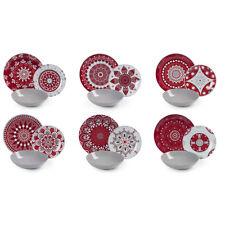 Excelsa Mandala Red Servizio piatti Multicolore (y7x)