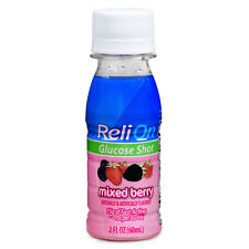 ReliOn Mixed Berry Glucose Shot, 2 Oz, Three Small Bottles