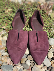 VINCE Burgundy Suede Darlington Flats 7 1/2 Loafers