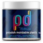 Polydoh moldable plastic 16oz WHITE  BLACK like polymorph plastimake friendly
