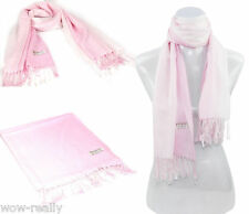 Wholesale Fashion Girl Women's Pashmina Scarf Pashmina Silk Gradient Pink Scarf