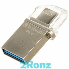 Verbatim OTG Micro 64GB 64G USB 3.0 Flash Drive Disk Mobile Android PC Tablet