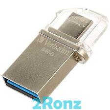 Verbatim OTG Micro 64GB 64G USB 3.0 Flash Drive Disk Mobile Android PC Tablet