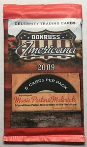 MINT 2009 Panini Donruss Americana Celebrity Trading Cards Factory Sealed Pack