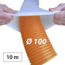 10m Stangen Drainagerohr Ø100 orange Drainagevlies Filter Set
