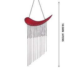 Hand Tuned Aluminum Feng Shui Wind Chime for Patio, Garden, Terrace and Balco...