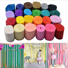 9M Crepe Paper Streamers Tissue Paper Roll Flower Craft Wedding Party Backdrop