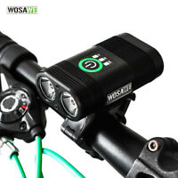 Bike Front Light 2400 Lumens USB Rechargeable LED Lamp Head Torches Flashlights