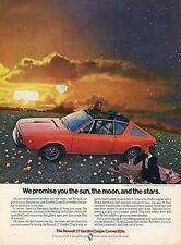 1974 Renault 17 Gordini Coupe Convertible Sun Moon and Stars Print Ad
