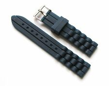18mm Silicone Watch Band - Watch Strap - Navy Blue with Stainless Steel Buckle