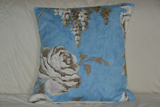 """Designers Guild fabric CUSHION COVER blue floral  16"""" x 16"""""""