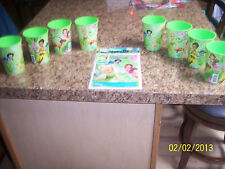 NEW Hallmark Disney Fairies 16 Fl. Oz Plastic Party Cups -8- AND 8 Favor Bags