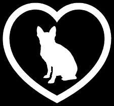 Boston Terrier Heart Sticker Dog Puppy Car Vinyl Decal
