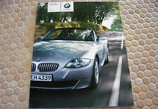 BMW OFFICIAL Z4 3.0i 3.0si NEW ROADSTER PRESTIGE SALES BROCHURE 2006 USA EDITION