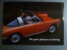 "1967 / 1968 Porsche 911, 911L, 912 ""Pure Pleasure"" Brochure / Prospekt RARE L@@K"