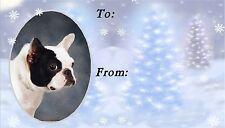 French Bulldog Christmas Labels by Starprint - No 1
