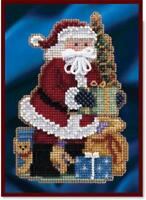 MILL HILL Counted Cross Stitch Kit - CELEBRATION SANTAS - MERRY CHRISTMAS SANTA