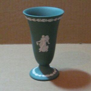 Wedgwood Jasperware Teal Dancing Hours Vase