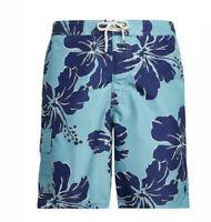 "Polo Ralph Lauren Mens 8.5"" Kailua Swim Trunks  AQUA / NAVY HAWAIIAN SZ M-XL $79"