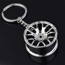 Silver Hot Creative Wheel Hub Rim Model Man's Keychain Car Key Chain Cool Gift