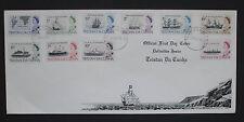 Tristan da Cunha 1965 Definitives on First Day Cover 17th Feb 1965