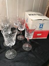 Crystal Astral Questa Claret 6 Stemware Glasses Box Korea