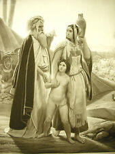 Abraham renvoie Agar Horace Vernet sc Jazet c.1860 juifs & Estampe orientaliste