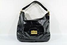Coach Kristin Black Patent Leather Hobo Shoulder Bag