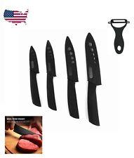 "5 Piece Ultra Sharp Kitchen Ceramic Knife Set Chef Cutlery 3"" 4"" 5"" 6"" + Peeler"