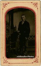 ORIGINALE ferrotypie, giovanotto di 1880