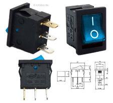 Beleuchteter 12V Wippschalter blau, 21x15mm, EIN-AUS ON-OFF Schalter SPST #20C
