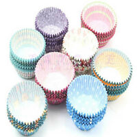 100 x High quality paper MINI muffin/cup cake/Baking Cases Various Colours