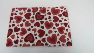 Valentine's Day Placemat White/Red Scatter Hearts All Over White Background NEW