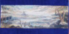 Unusual EXTRA Large Landscape Painting Heavy Impasto Signed Marlowe