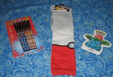 New Pokemon Gift Lot Pokeball Knee Socks & More Authentic Next Day USA Shipping
