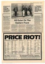 Vapors The Interview NME Cutting 1980