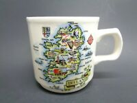 VINTAGE CARRIGDHOUN CO-OP IRISH CERAMIC COFFEE CUP MUG TRAVEL SOUVENIR IRELAND