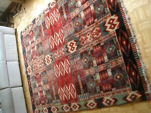 vintage large new zealand wool rug aztec design marco polo pure wool 233 x 169
