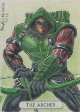 DC Comics Justice League Tarot Sketch Card by Angelo De Capua of Green Arrow