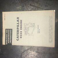 CATERPILLAR CAT ENGINE D333 OPERATION MAINTENANCE 58B