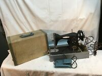 Vintage Macy's Herald Sewing Machine With Case Working Japan 1940s