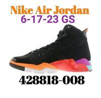 Size 6Y Nike Air Jordan 6-17-23 Black/Orange/Crimson 428818-008