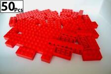 50 pieces LEGO 2x4 Bricks 3001 Red