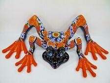 """33"""" XL FROG  mexican talavera colorful figurine folk art"""