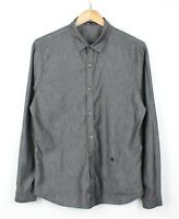 The Kooples Mens Grey Fitted Long Sleeve 100% Cotton Shirt - Size M