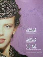 "Rare & Autographed KYLIE MINOGUE 12"" LOCOMOTION SINGLE *PRICE REDUCED*"